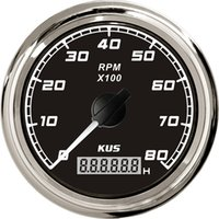 Wholesale Popular Design mm tachometer SQ KF07023 black faceplate stainless steel KL for marine boat car truck high quality red backlight