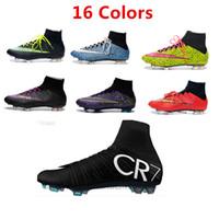 Wholesale 2015 NEW Magista Soccer Shoes Men s Outdoor FG High Ankle CR7 Soccer Cleats Superfly Botas De Futbol NEW Men s Soccer Shoes
