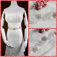 best online wedding dresses - Best Selling High Quality Beaded Crystal Ribbon Bridal Waist Belts Sashes Online Bride s Accessories Wedding Dresses Decoration