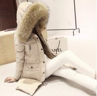 Wholesale women Down Parkas winter warm outerwear clothes women long design real natural Raccoon fur collar coat Hooded Duck Down jacket D01
