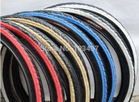 Wholesale K193 Multi color Bald Bike Tire Color Bicycle Tire for Folding Bike Bicycle Parts pair