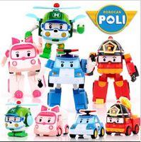 Wholesale Poli deformation car Robocar bubble toys models South Korea mix robocar poli