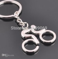 Cheap Wholesale-FD1148 Sports staff Zinc Alloy Bicycle Bike Sports Metal Keychain Keyring Keyfob Key Ring 1pc