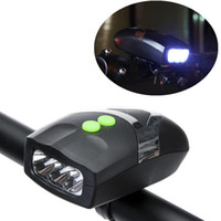 Wholesale Ultra Bright LED Bike Bicycle Light White Front Head Light Lamp with Cycling Electronic Bell Horn Hooter Siren CYC_C05
