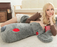 stuffed animal pillows - High Quality Giant Lying Dog Plush Toy Stuffed Animals Pillow
