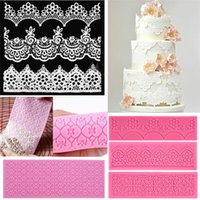 Wholesale Hot Sales Fondant Cake Tools Lace Sugar Craft Flower Decorating Mold Silicone Patterns JA4