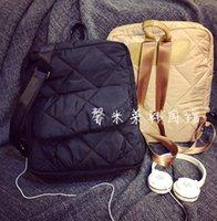 argyle bag - New In Fashion Tempur Cotton Argyle Backpacks For Women Trendy Korean Designer Brand Down Feather Bags Female