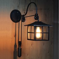 Wholesale Vintage RH Loft Industrial E27 American Country Pulley Pendant Lights Adjustable Wire Lamps Retractable Bar Decoration Lighting