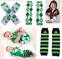 argyle pattern - Patrick s Day Leg wamrers Argyle Striped Shamrock Clover baby legwarmers for Toddler Kids baby crawling knee pads patterns