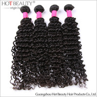 Deep Wave human hair weave - 4pcs Curly Brazilian Virgin Hair Weave Deep Wave Unprocessed Human Hair Extensions g pc