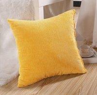 Wholesale Fashion Hot Colorful Corn Kernels Corduroy Sofa Decor Throw Pillow Case Cushion Cover Square Office Back Car Cushion