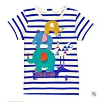 Wholesale 2016 Summer New Boy T shirts Children Animals Stripe Cartoon Cotton Fashion Short Sleeve T shirts T