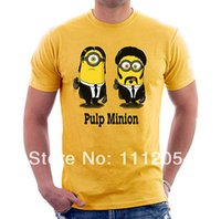 adult short fiction - PULP MINION FICTION Printed T Shirt Men s Short sleeve Custom T shirt New Adult Size S XL Cotton