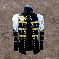 best perform - Best Man coat Suits Groom Tuxedos Men s stage Suit Wedding Singer performance service Night performing wear