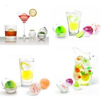 Wholesale 2015 new hot set Party Bar Plastic Cute Ice Cube Ball Tray Round Maker Mold YKS