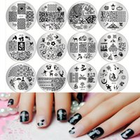 nail charms - 10 d Nail Art Templates Stencils Available DIY Polish Beauty Charm Nail Stamp Stamping Plates Manicure Tools