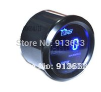 Wholesale In stock new NEW quot mm COOL BLACK UNIVERSAL BLUE DIGITAL LED TACHO TACHOMETER GAUGE METER