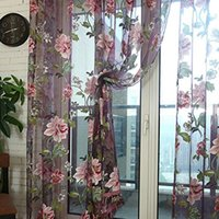 drapes curtains - Fashion tulle for windows luxury translucidus sheer curtains for kitchen the bedroom living room design curtain fabric drapes