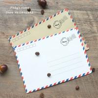 Al por mayor-10pcs/lote Vintage Sobres de Papel Kraft, Sobres de correo Aéreo Postal Carta de Felicitación de Papel Almacenamiento de Papelería Sobres Conjunto