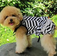 Wholesale Zebra print spaghetti strap swimwear set teddy pet clothes dog physiological pants dogs stiped clothing suit