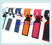 Wholesale DHL Freeshipping Colorful PU Travel Tag Luggage Tag Bag Tag Novelty Luggage Identifier Airplane Tag