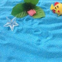 Wholesale Micro World Bonsai Garden Small Ornamental Landscape Decoration Blue White Sand Quartz Sand FZ0051