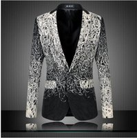 autumn dishes - Plus Size M XL Men Casual Blazers Designer Brand Autumn Fashion Business Dress High Quality Dish Silk Suit Jacket