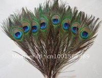 Wholesale Fashion Natural Peacock Tail Eyes Feathers Inches about cm