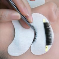 Wholesale 1 pair Eyelash silk eye pads under eye patch eyelash extension lint free eye pads