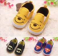 Wholesale Drop shipping Fall baby shoes superman toddler shoes Leisure soft bottom children shoes kids shoes cheap newborn shoes pairs ZH