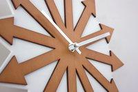 arrow digital - Original Wood Arrow Theme Silent Antique Wall Clock Modern Design Home Large Decorative Wall Clock GK100009