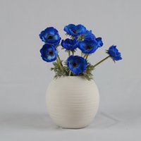 anemone flowers - 17 quot Artificial Real Touch Flowers White colors Anemone Wedding Home Decoration Bouquets