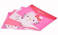 Wholesale Kawaii Cartoon Hello Kitty Plastic A4 Size School Filing Document Bag Holder