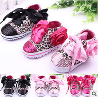 Wholesale Baby first walker Shoes Period The Striped Bowknot Leopard sequins shoes head baby shoes Baby shoes toddler and year old
