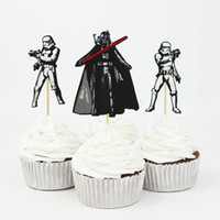 baking decorating supplies - 120pcs Star War Cake Decorating Tools Fruits Cupcake Inserted Card Stands Baking Supplies for Kids Birthday Xmas Decoration