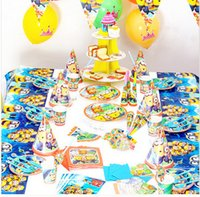 Wholesale hot Luxury Kids Birthday Decoration Set despicable me minions Party Supplies Baby Birthday Party Pack