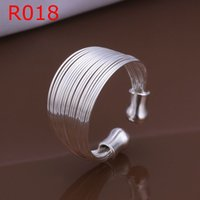 ring size 4 - R018 SIZE Multi line classic ring opening silver classic ring Fashion jewelry classic rings ajda jaka