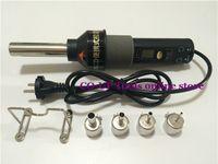 Cheap EU Plug 220V-240V 450W 450 Degree LCD Adjustable Electronic Heat Hot Air Gun Desoldering Soldering Station IC SMD BGA +4 Nozzles