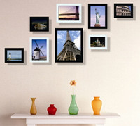 Wholesale 8pcs Home decoration picture frames wall frame wedding decoration frames combination wall frames