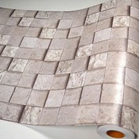 Wholesale Bathroom walls papers PVC mosaic wallpaper kitchen waterproof tile stickers plastic vinyl self adhesive wall decor home decor