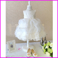 Cheap Pure Lace White Flowers Sash Girls Pageant Dress First Communion Dress 2015 Customized in China FLG113