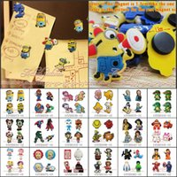 Wholesale Free DHL Hot Cartoon Cartoon Refrigerator Blackboard Magnetic Sticker Fridge Magnet School Office Party Supplies Stationery Kid Gift
