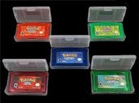Wholesale 100 Brand New Mix Top selling Game GBA Poke Fire red emarald leaf green sapphire ruby classic games Free via DHL or EMS