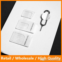 Wholesale High Quality in Nano SIM Card Adapters Standard SIM Card with Eject Pin for iPhone4 s s