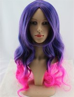 Wholesale Factory direct Long Curly Synthetic cosplay costume wig anime lolita wigs
