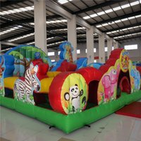 amusement theme park - AOQI amusement park equipment zoo theme inflatable jumping bouncer for kids for sale made in China