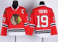usa hockey jersey - Cheap Ice Hockey Jerseys Chicago Jonathan Toews Red Stitched Authentic Jerseys Mix order USA DHL