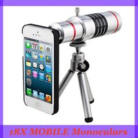 Wholesale universal new Monoculars mobile phones support iPhone samsung android cellphone Binoculars times metal telescope configuration