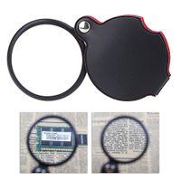 mini microscope - 5X Mini Glass Lens Pocket Magnifier with Leather Pouch Folding Magnifying Glasses Tool Lupas De Aumento Microscope Ferramentas E0149