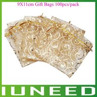 Wholesale AM1C191 High Quality Sheer Organza Jewelry Pouches Wedding Party Favor Gift Bags quality first pack